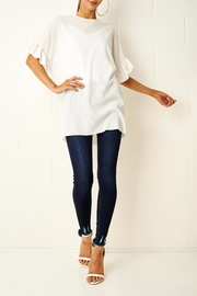 frontrow White Ruffle Top - Product Mini Image
