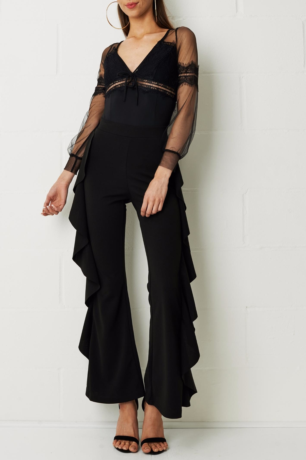 frontrow Wide Crepe Trousers - Main Image
