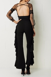 frontrow Wide Crepe Trousers - Front full body