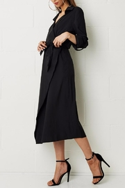 frontrow Wrap Black Dress - Product Mini Image