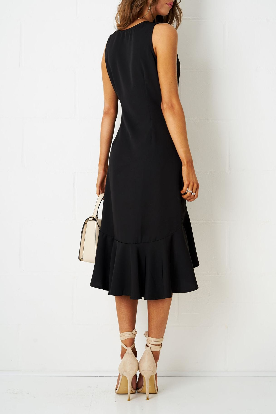 frontrow Wrap Effect Dress - Side Cropped Image