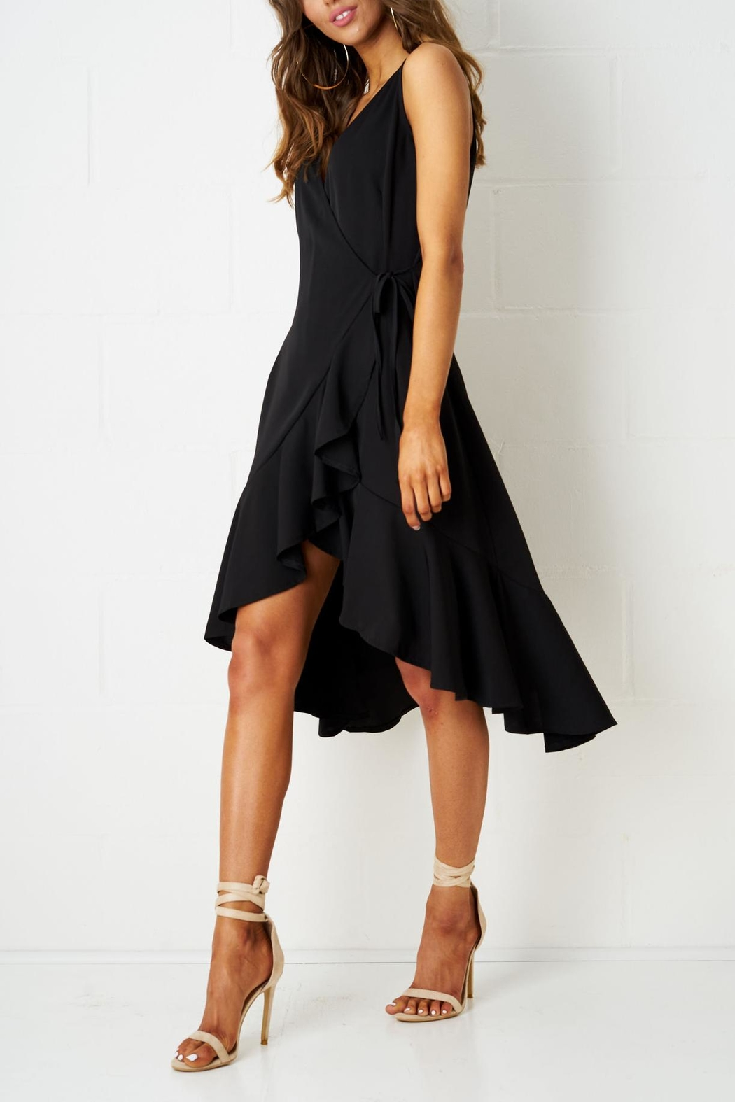 frontrow Wrap Effect Dress - Front Full Image