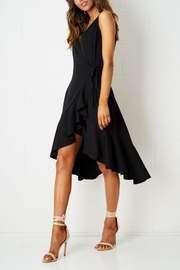frontrow Wrap Effect Dress - Front full body