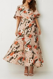 frontrow Wrap Floral Dress - Side cropped