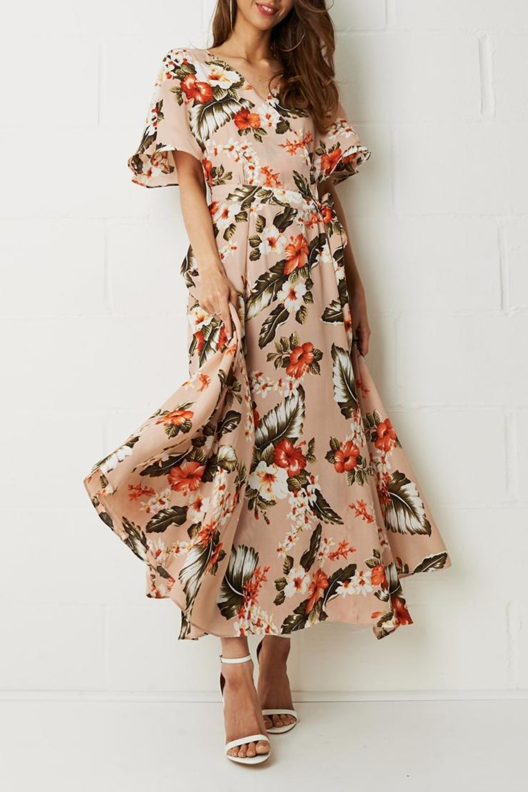 frontrow Wrap Floral Dress - Main Image