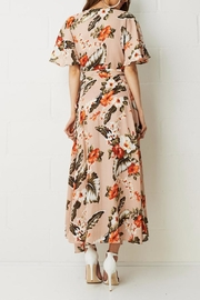 frontrow Wrap Floral Dress - Back cropped
