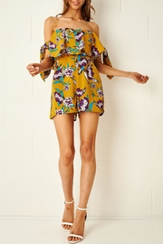 frontrow Dita Yellow Floral Playsuit - Product Mini Image