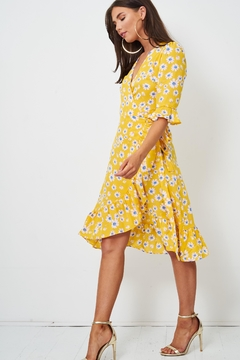 frontrow Yellow Floral Wrap Dress - Product List Image
