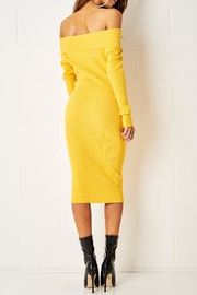 frontrow Yellow Midi Dress - Side cropped