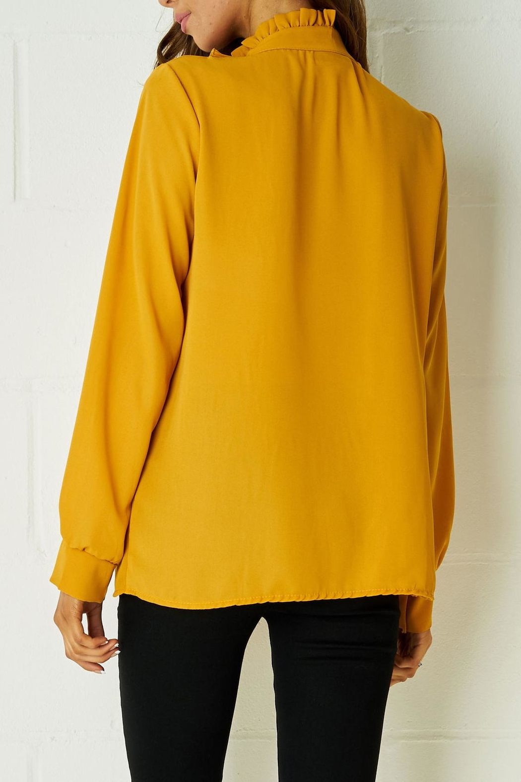 frontrow Yellow Ribbon Blouse - Side Cropped Image