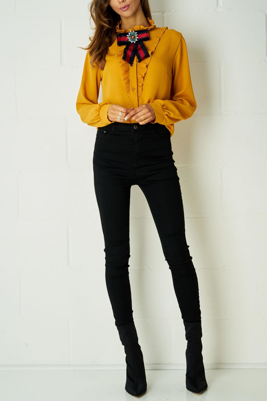 frontrow Yellow Ribbon Blouse - Front Full Image