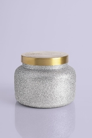 Capri Blue Frosted Fireside Glam Signature Jar, 19 oz - Front cropped