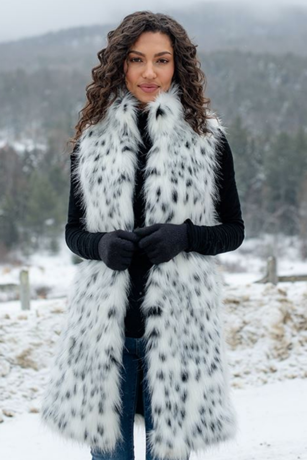Fabulous Furs Frosted Leopard Stoller Vest - Main Image