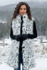 Fabulous Furs Frosted Leopard Stoller Vest - Front cropped