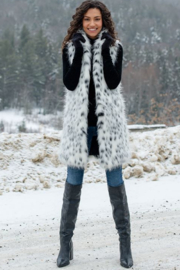 Fabulous Furs Frosted Leopard Stoller Vest - Side cropped
