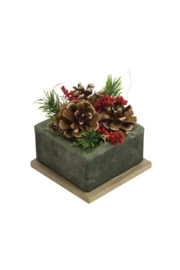 habersham candle Frosted Pine Cone Geo Candle - Product Mini Image