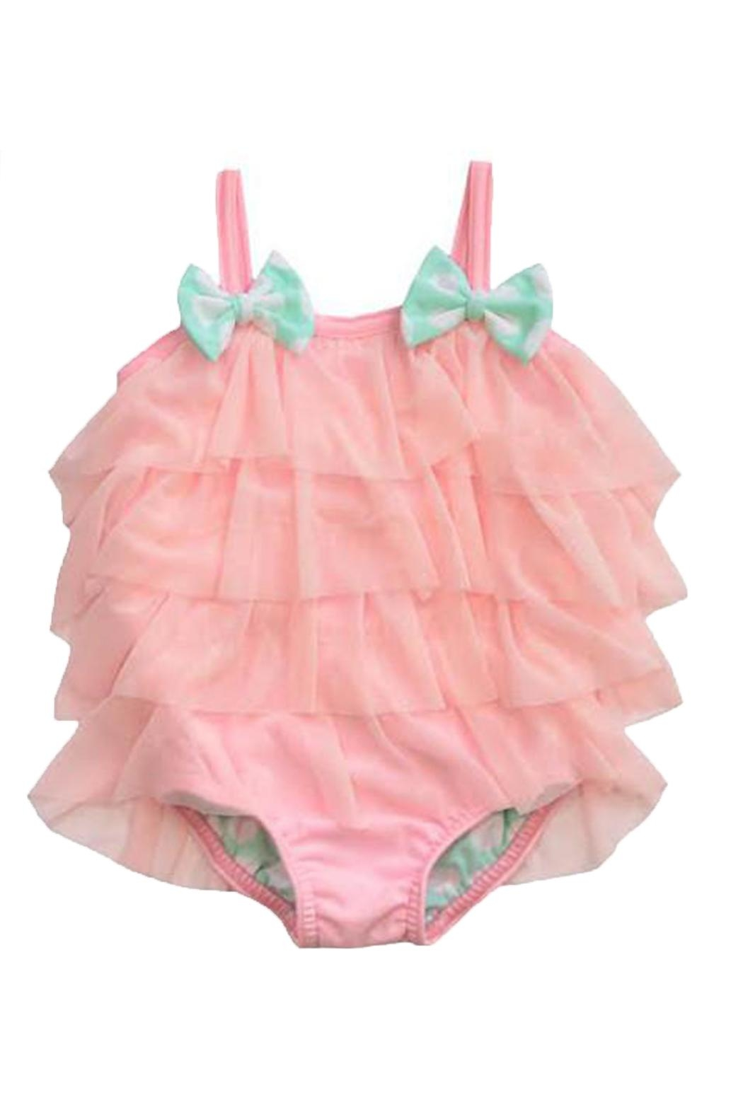 Frou Frou Pink Ruffle Swimsuit - Front Cropped Image