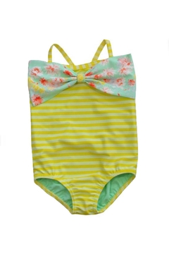 Shoptiques Product: Yellow Striped Swimsuit