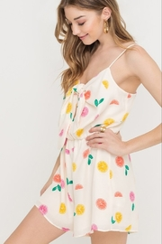 Lush  Fruit Print Romper - Product Mini Image