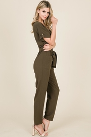 FSL Apparel Button Down Jumpsuit - Front full body