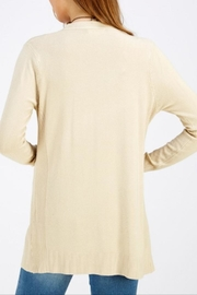 FSL Apparel Champagne Ribbed Cadigan - Front cropped