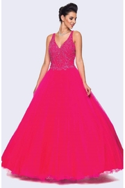 Juliet Fuchsia Beaded Formal Ball Gown - Product Mini Image