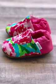 Trendy Baby  Fuchsia Floral Moccasins-12-18 Months - Product Mini Image