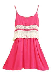 Entro Fuchsia Fringe Dress - Product Mini Image