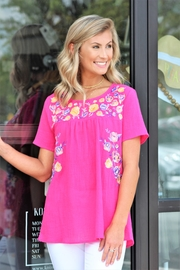 Jodifl Fuchsia Garden Top - Product Mini Image
