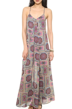 Shoptiques Product: Fuchsia Paisley Maxi-Dress