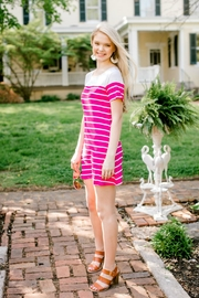 Izzie's Boutique Fuchsia Stripe Dress - Product Mini Image