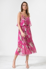 Urban Touch Fuchsiafloral Pleated Camimididress - Product Mini Image