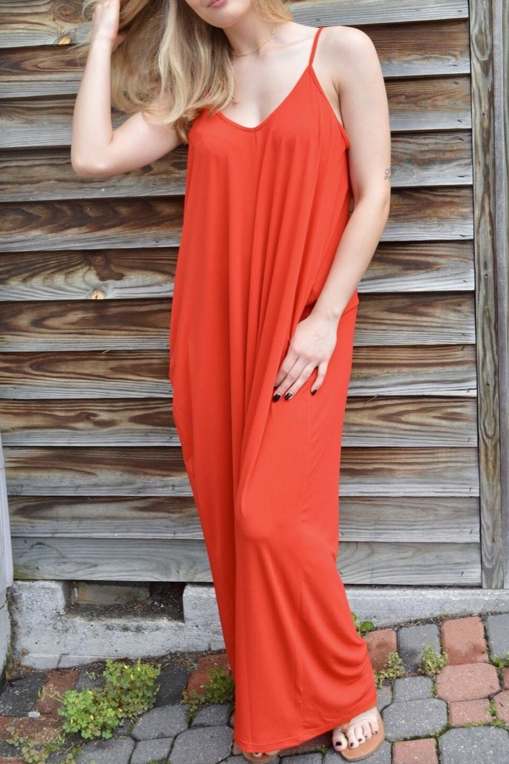 Entro Fuego Maxi Dress - Front Cropped Image