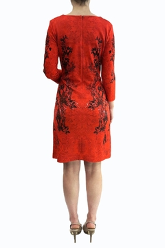 Fuego Woman Red Flowers Dress - Alternate List Image