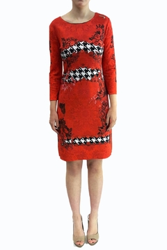 Fuego Woman Red Flowers Dress - Product List Image