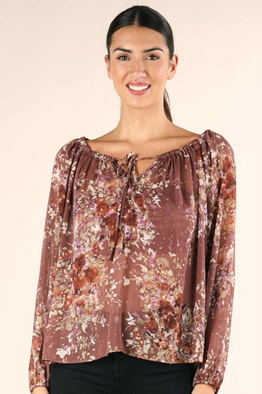 Lovestitch FULL FALL BLOOM BLOUSE - Front Full Image
