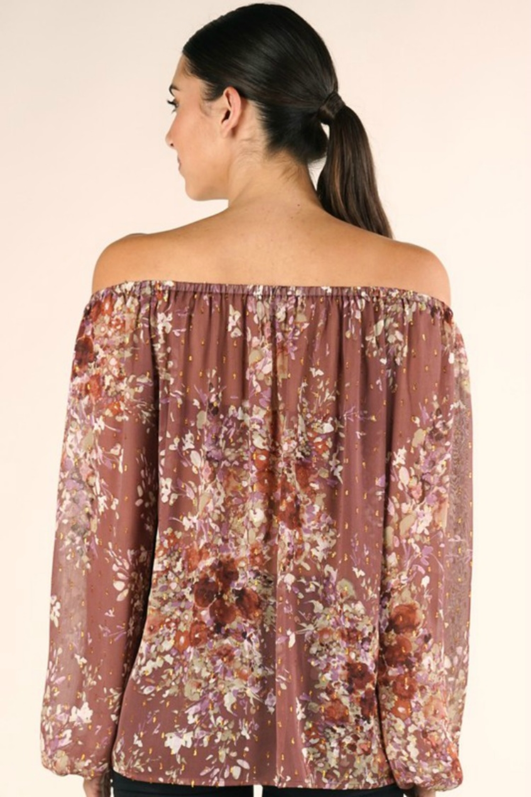 Lovestitch FULL FALL BLOOM BLOUSE - Side Cropped Image