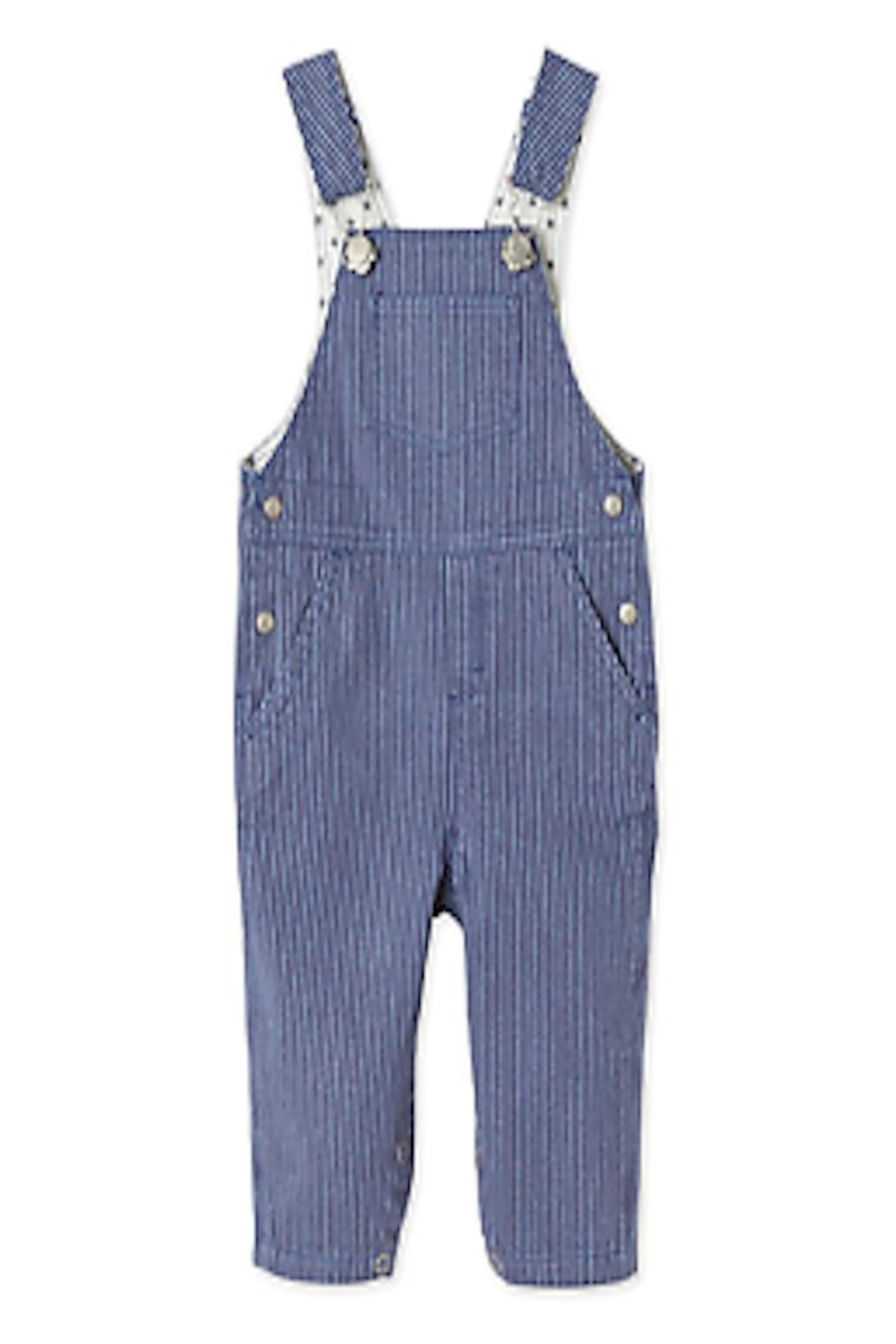 Petit Bateau Full-Length Overalls - Front Cropped Image
