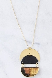 Mesa Blue Full Moon Long Necklace - Front cropped