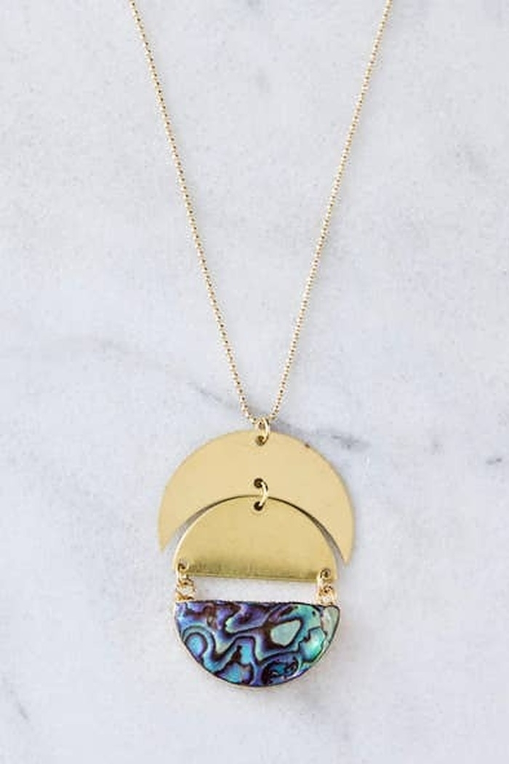 Mesa Blue Full Moon Long Necklace - Front Full Image