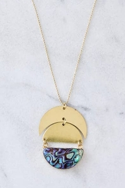 Mesa Blue Full Moon Long Necklace - Front full body