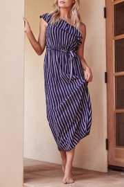 SAGE THE LABEL Full-Moon One-Shoulder Maxi - Front full body