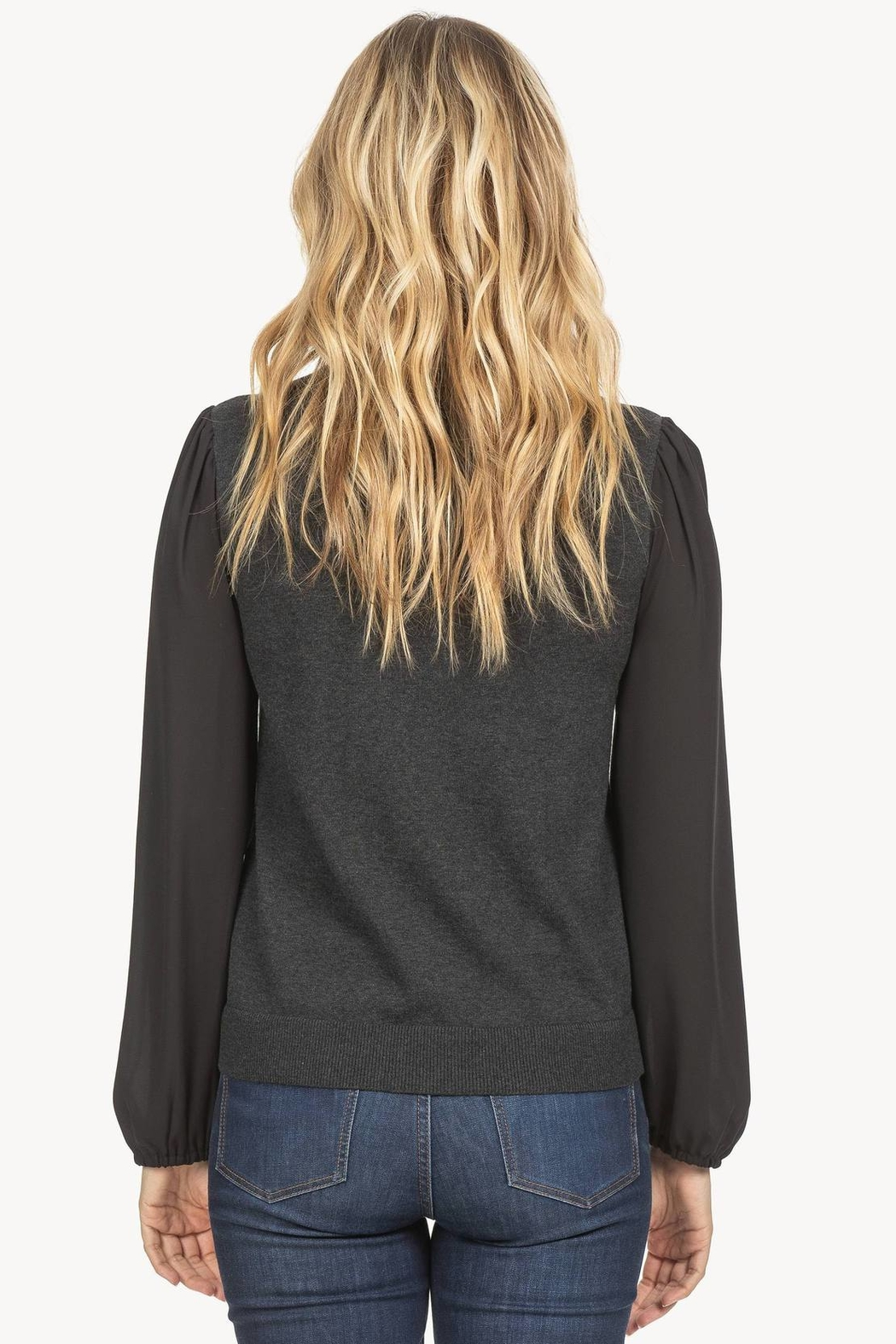 Lilla P Full Sleeve Crew Neck Sweater - Side Cropped Image
