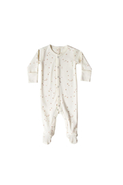 Quincy Mae Full Snap Footie - Ivory Star - Product Mini Image