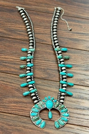 JChronicles Full-Squash-Blossom Natural-Turquoise Necklace - Product Mini Image