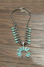 JChronicles Full-Squash Blossom-Natural Turquoise-Necklace - Product Mini Image