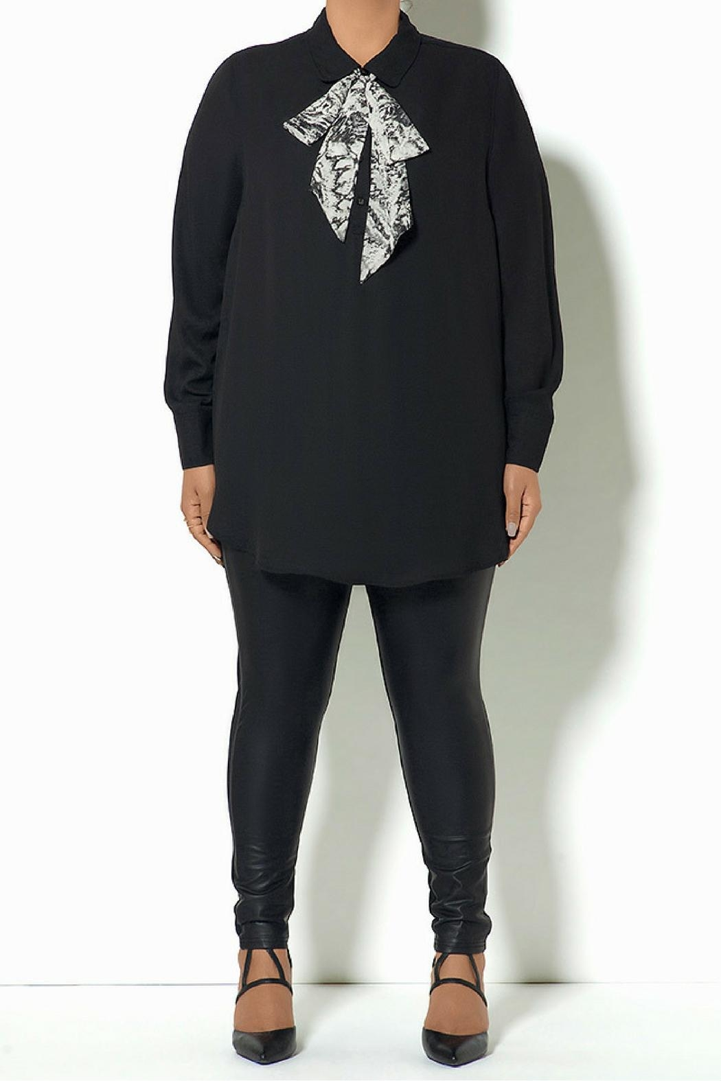 Full Figured Fashionista Removable Tie Top - Main Image