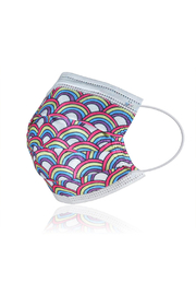 Watchitude Fun Carbon Masks Butterfly/Rainbow Playground 6 Pack - Kids Ages 5-12 - Back cropped