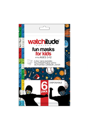 Watchitude Fun Carbon Masks Sports/Build Up 6 Pack - Kids Ages 5-12 - Product Mini Image