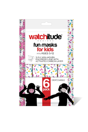 Watchitude Fun Carbon Masks Sprinkles/Unicorn World 6 Pack - Kids Ages 5-12 - Product Mini Image